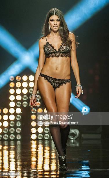 Linda Morselli walks the runway during the Women's Secret videoclip premiere at Sala La Riviera on November 11 2015 in Madrid Spain