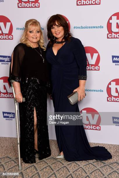 Linda Nolan and Coleen Nolan arrive at the TV Choice Awards at The Dorchester on September 4 2017 in London England