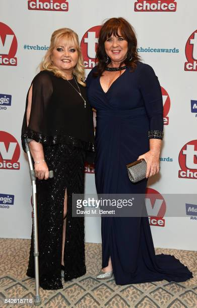 Linda Nolan and Coleen Nolan attend the TV Choice Awards at The Dorchester on September 4 2017 in London England