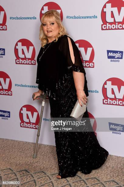 Linda Nolan arrives at the TV Choice Awards at The Dorchester on September 4 2017 in London England