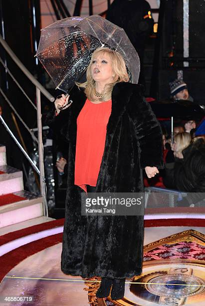 Linda Nolan attends the Celebrity Big Brother final at Elstree Studios on January 29 2014 in Borehamwood England