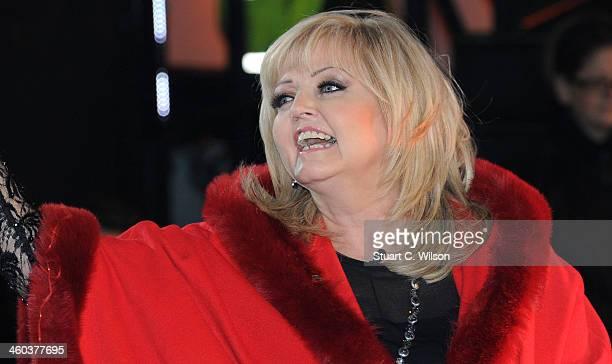 Linda Nolan enters the Celebrity Big Brother House at Elstree Studios on January 3 2014 in Borehamwood England