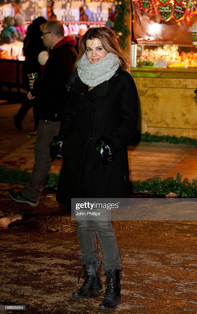 Linda Papadopoulos attends the Winter Wonderland launch party at Hyde Park on November 22, 2012 in London, England.