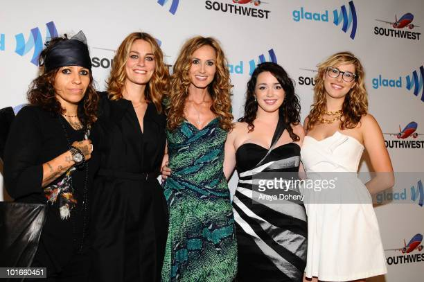Linda Perry Clementine Ford Chely Wright Carmen Chambers and Ariel ShepherdOppenheim arrive at the 21st Annual GLAAD Media Awards at San Francisco...