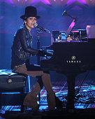 Linda Perry performs during the Songwriters Hall Of Fame 46th Annual Induction And Awards at Marriott Marquis Hotel on June 18 2015 in New York City