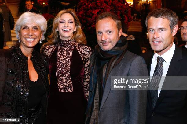 Linda Pinto President of the Gala Ulla Parker Olivier Bialobos and Philippe Mugnier attend Arop Charity Gala with 'Ballet du Theatre Bolchoi' Held at...