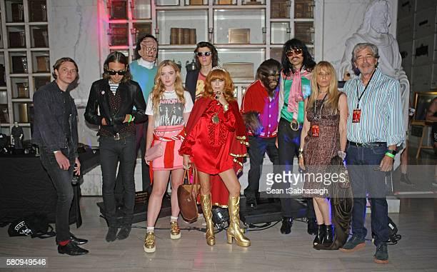 Linda Ramone and guests actor Jack Kilmer photographer/designer Hedi Slimane actress Katherine Newton model Dylan Brosnan musician JD King actress...