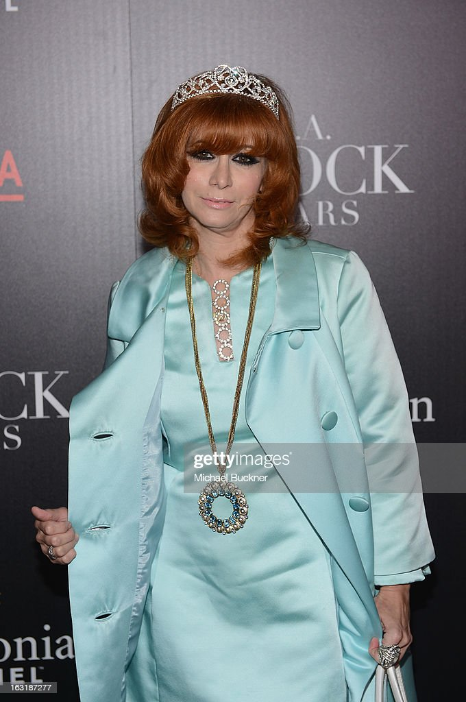 Linda Ramone arrives at the premiere for the Smithsonian Channel's new original series 'L.A. Frock Stars' at LACMA on March 5, 2013 in Los Angeles, California.