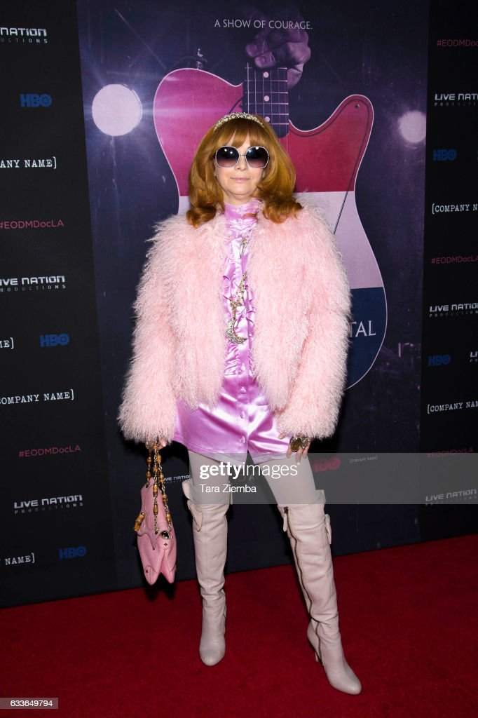 Linda Ramone arrives for the premiere of HBO's 'Eagles Of Death Metal: Nos Amis (Our Friends)' at Avalon Hollywood on February 2, 2017 in Los Angeles, California.