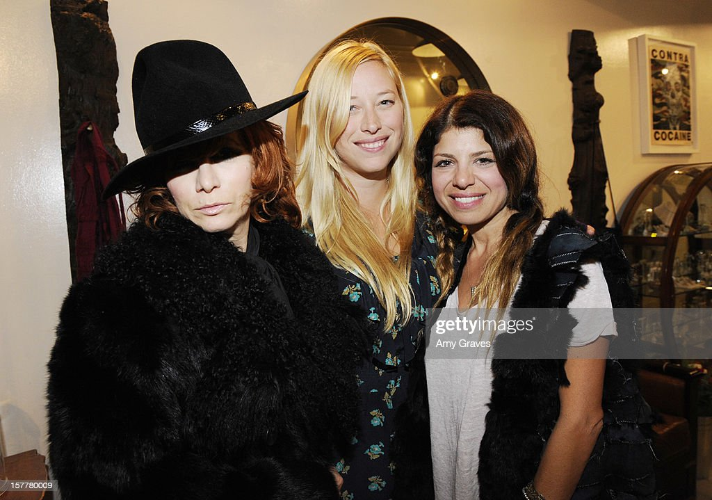 Linda Ramone, Beth Yorn and Kathy Rose attend Beth Yorn's Jewelry Show at Roseark on December 5, 2012 in West Hollywood, California.