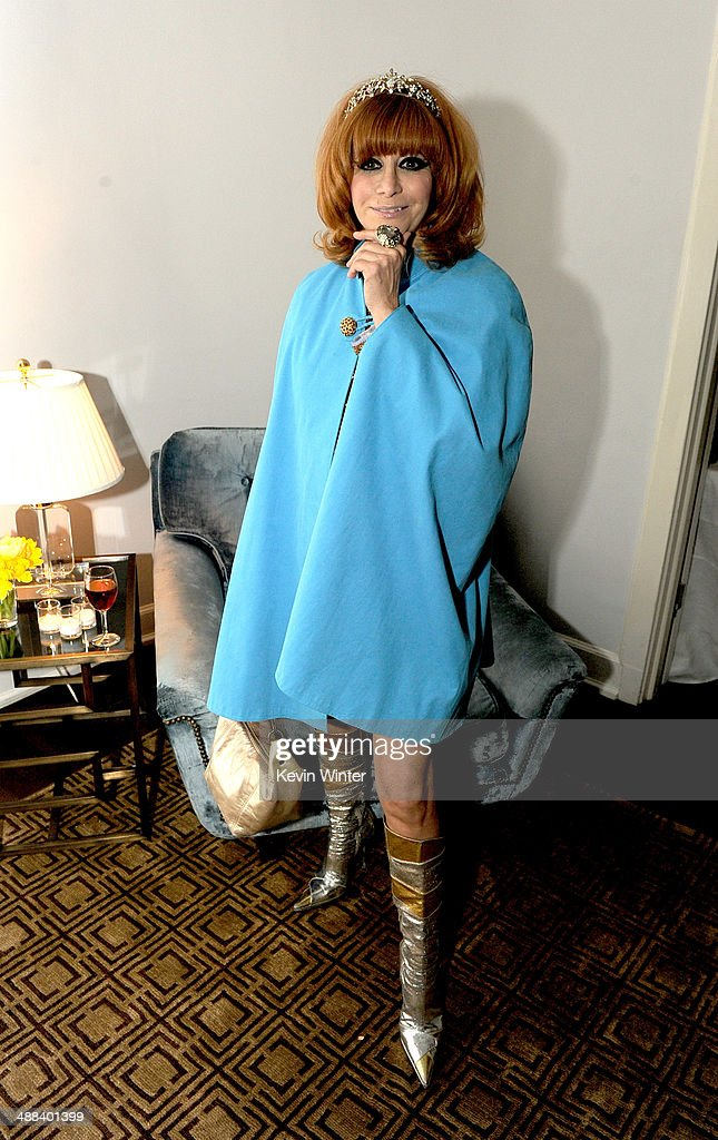 <a gi-track='captionPersonalityLinkClicked' href=/galleries/search?phrase=Linda+Ramone&family=editorial&specificpeople=5476133 ng-click='$event.stopPropagation()'>Linda Ramone</a> poses at the after party for the premiere of Tribeca Film's 'Palo Alto' at the Chateau Marmont on May 5, 2014 in West Hollywood, California.