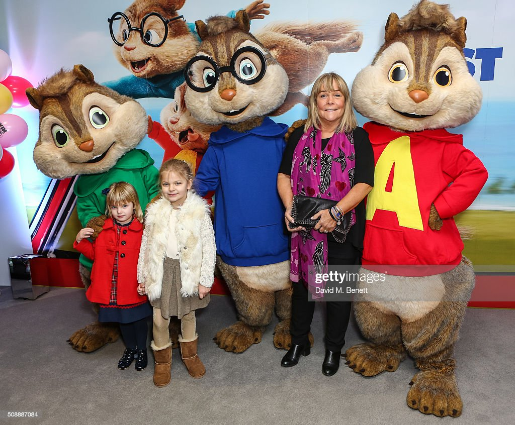 <a gi-track='captionPersonalityLinkClicked' href=/galleries/search?phrase=Linda+Robson&family=editorial&specificpeople=159565 ng-click='$event.stopPropagation()'>Linda Robson</a> and grandaughters attend a Gala Screening of 'Alvin & The Chipmunks: The Road Chip' at Vue West End on February 7, 2016 in London, England.