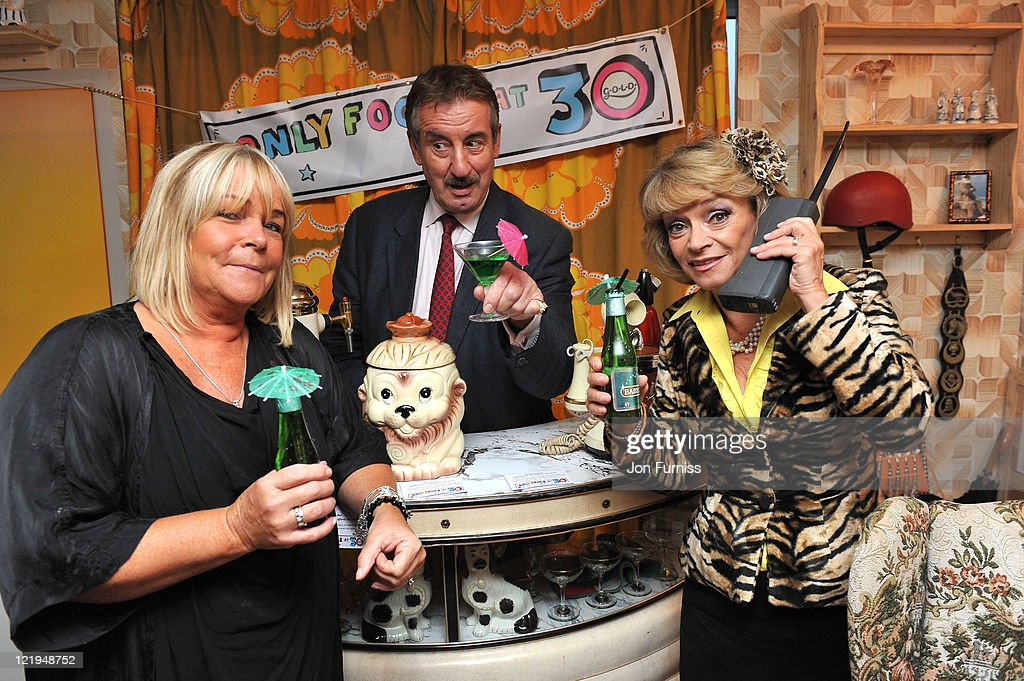 Linda Robson, John Challis and Sue Holderness attend the Gold Nelson Mandela House launch, celebrating Only Fools at 30 on Gold on August 23, 2011 in London, England.