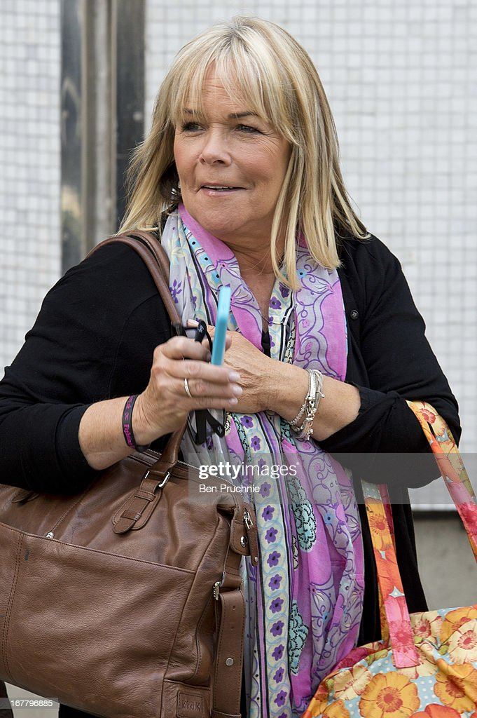 Linda Robson sighted departing ITV Studios on April 30, 2013 in London, England.