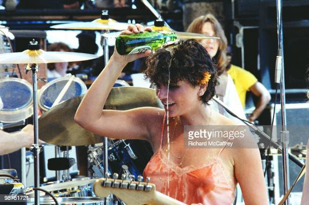 Linda Ronstadt performs live at The Oakland Coliseum in 1977 in Berkeley California
