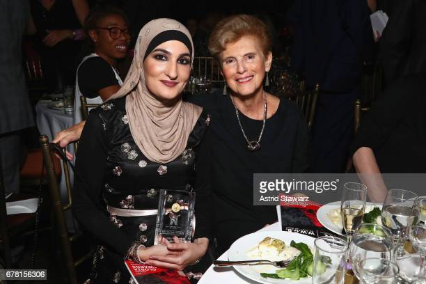 Linda Sarsour and Marie C Wilson attend the Ms Foundation for Women 2017 Gloria Awards Gala After Party at Capitale on May 3 2017 in New York City