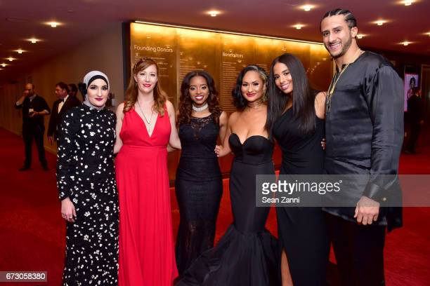 Linda Sarsour Bob Bland Tamika Mallory Carmen Perez Nessa and Colin Kaepernick attend the 2017 TIME 100 Gala at Jazz at Lincoln Center on April 25...