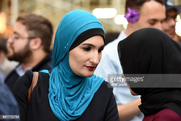 Linda Sarsour coorganizer of the National Womens March and one of TIME Magazines 100 Most Influential People is in the event of M Power Change social...