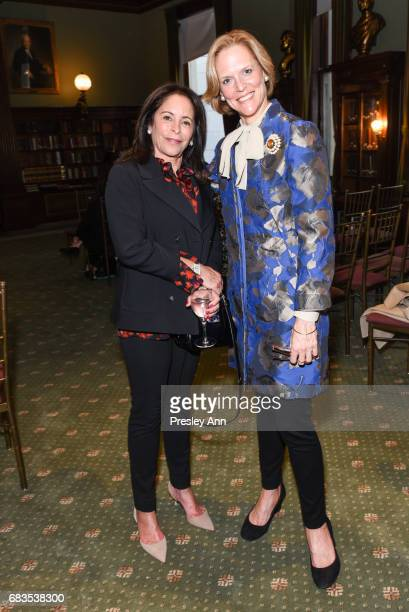 Linda Schaps and Louisa Bennett attend Audrey Gruss' Hope for Depression Research Foundation Dinner with Author Daphne Merkin at The Metropolitan...