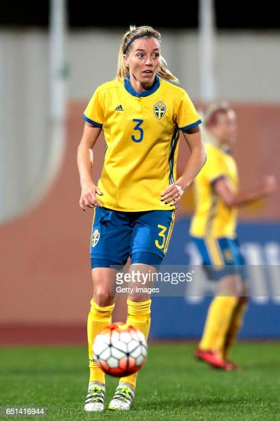 Linda Sembrant of Sweden during the Algarve Cup Tournament Match between Sweden W and Russia W on March 8 2017 in Albufeira Portugal