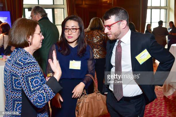 Linda Slevin Jin Young Hwang Coleman and David Shapiro attend the Appraisers Association of America 13th Annual Award Luncheon at New York Athletic...