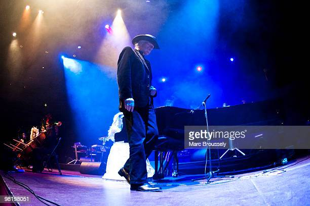 Linda Spa and Edgar Froese of Tangerine Dream perform on stage at Royal Albert Hall on April 1 2010 in London England