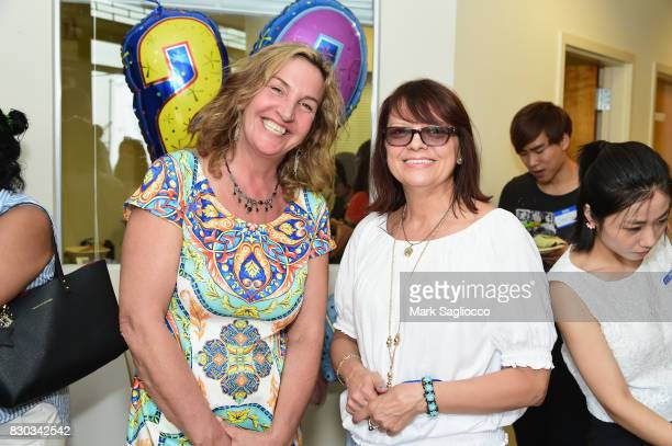 Linda Stasiak and Margaret Kwiatkowski attend as Surya Brasil celebrates 20th anniversary in the United States on August 11 2017 in New Hyde Park New...