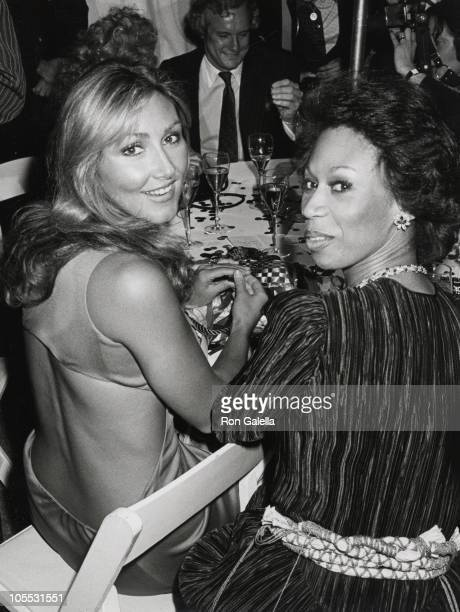 Linda Thompson and Altrovise Davis during 'Can't Stop the Music' Premiere June 19 1980 at Lincoln Center in New York City New York United States