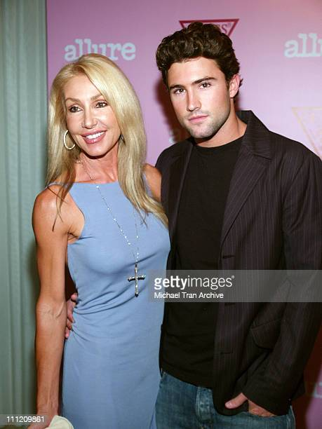 Linda Thompson and Brody Jenner during GUESS Fragrance Launch Party August 17 2005 at Skybar in Los Angeles California United States