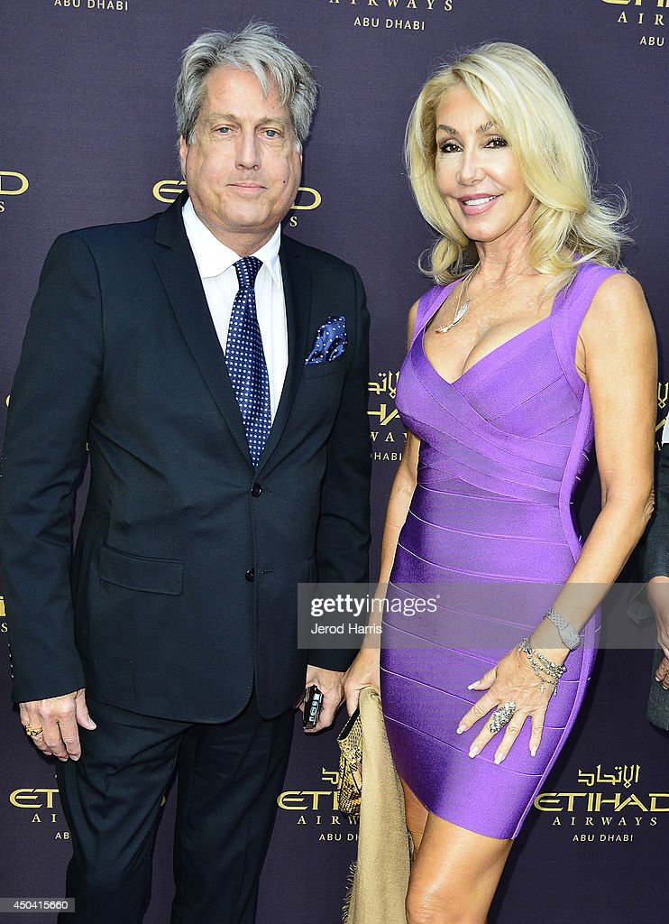 Linda Thompson and guest attend a gala to celebrate Etihad Airways' world-class, non-stop service between Los Angeles and Abu Dhabi at the iconic Beverly House on June 10, 2014 in Beverly Hills, California.