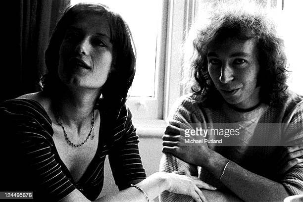Linda Thompson and Richard Thompson portrait London January 1974