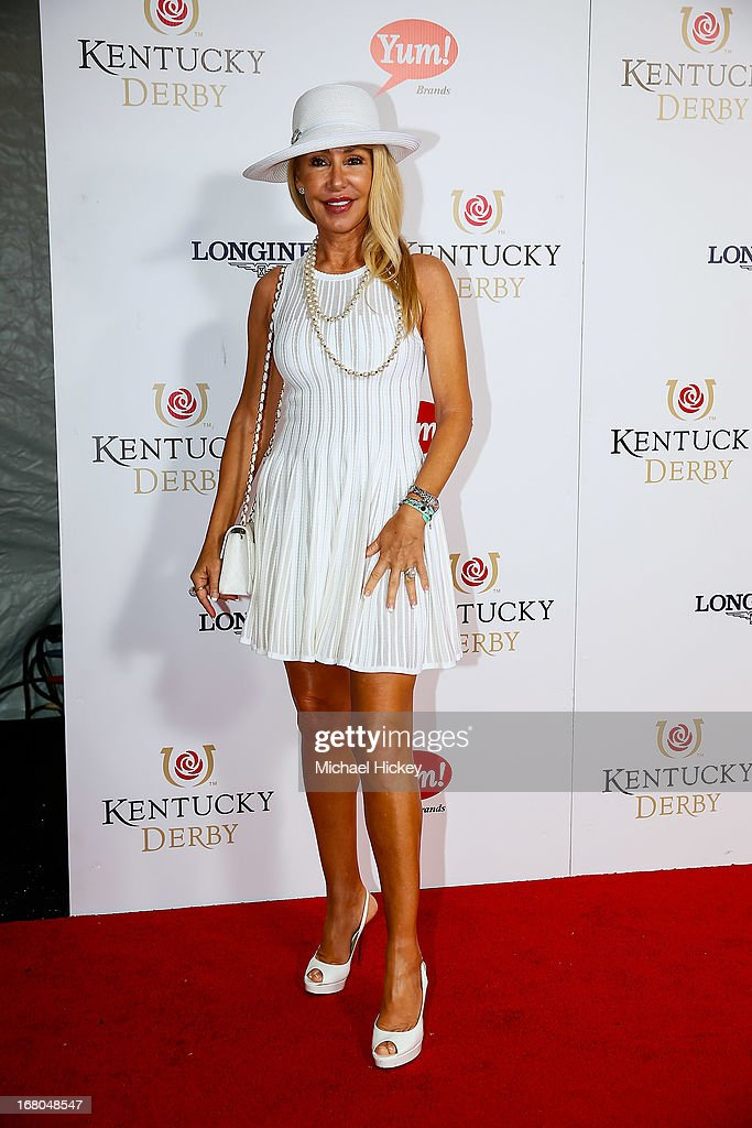 Linda Thompson attends 139th Kentucky Derby at Churchill Downs on May 4, 2013 in Louisville, Kentucky.