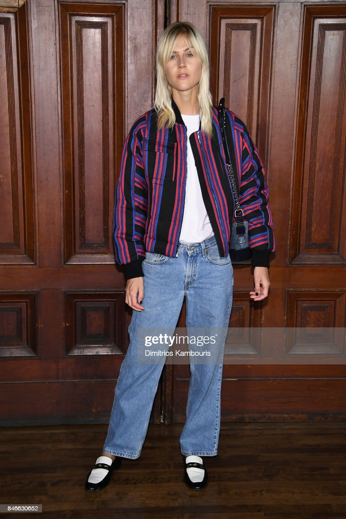 Linda Tol attends Marc Jacobs SS18 fashion show during New York Fashion Week at Park Avenue Armory on September 13, 2017 in New York City.