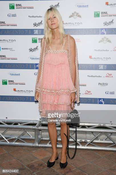 Linda Tol attends Nastri D'Argento 2017 Awards Ceremony on July 1 2017 in Taormina Italy