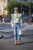 Linda Tol during the Paris Fashion Week Womenswear Spring/Summer 2016 on October 4 2015 in Paris France