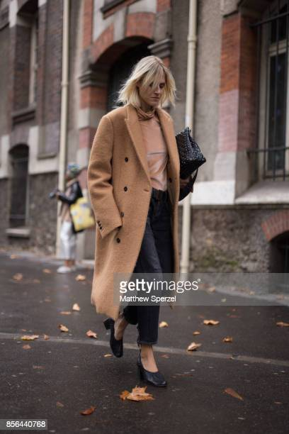 Linda Tol is seen attending Valentino during Paris Fashion Week wearing Valentino on October 1 2017 in Paris France