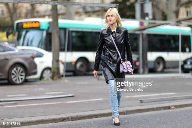 Linda Tol is seen outside the Ellery show during Paris Fashion Week Womenswear Fall/Winter 2017/2018 on March 7 2017 in Paris France