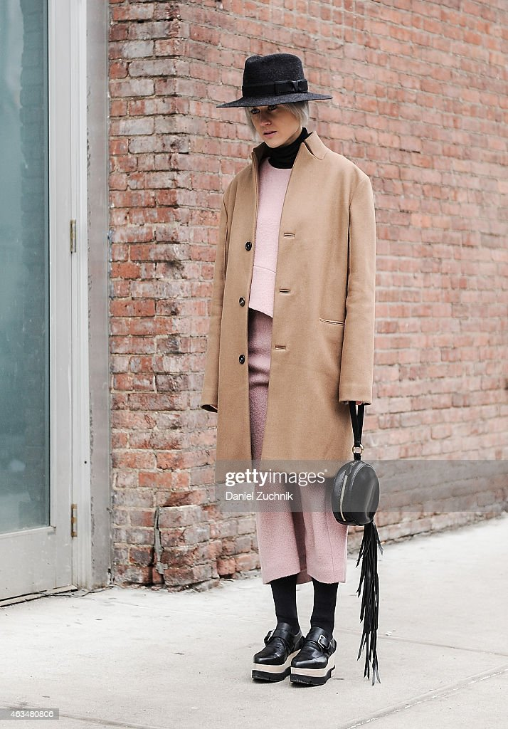 Linda Tol is seen outside the Tibi show on February 14 2015 in New York City