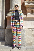Linda Tol poses wearing Missoni on June 21 2015 in Milan Italy