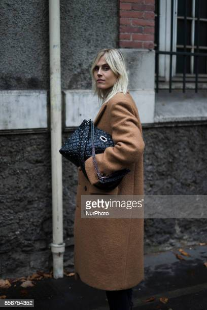 Linda Tol seen in the streets of Paris during the Paris Fashion Week on October 1 2017 in Paris France