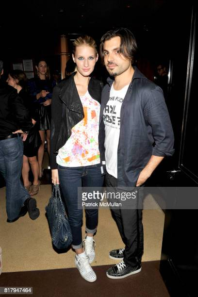 Linda V and Jameson Moss attend Ali Kay Keep Me Collection Dinner hosted by Vikram Chatwal and Jeffrey Jah at The Lambs Club on September 15 2010 in...