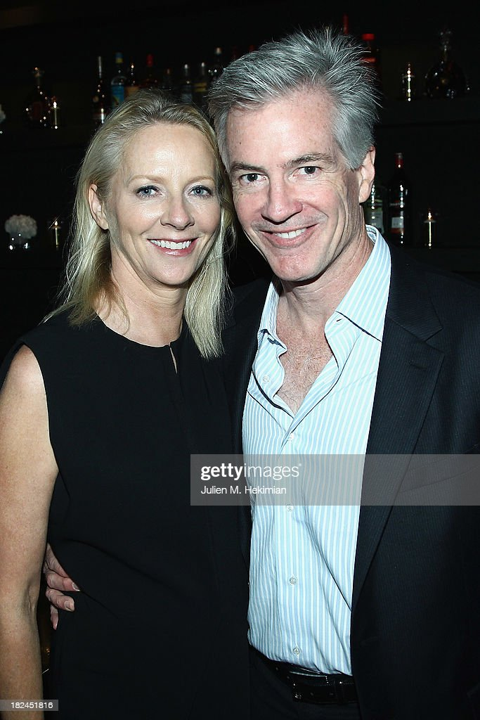 Linda Wells and Jeff Nuechterlein attend the Glamour dinner for Patrick Demarchelier as part of the Paris Fashion Week Womenswear Spring/Summer 2014 at Monsieur Bleu restaurant on September 29, 2013 in Paris, France.
