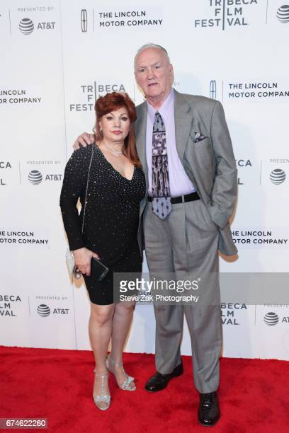 Linda Wepner and Chuck Wepner attend the screening of 'Chuck' during the 2017 Tribeca Film Festival at BMCC Tribeca PAC on April 28 2017 in New York...