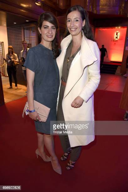 Linda Zervakis and Pinar Atalay attend the Studio Hamburg Nachwuchspreis 2017 at Thalia Theater on June 20 2017 in Hamburg Germany