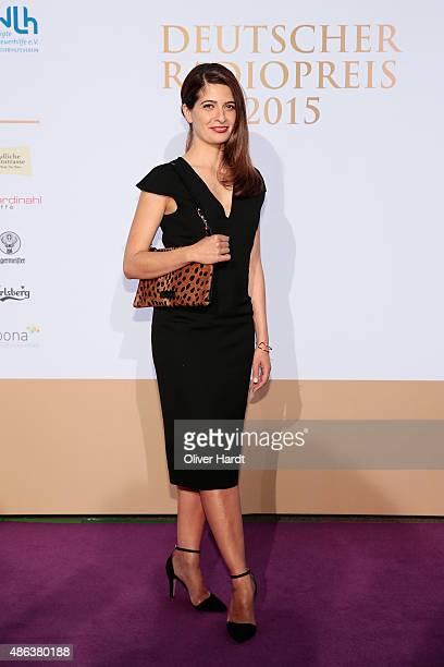 Linda Zervakis poses during the Deutscher Radiopreis 2015 at Schuppen 52 on September 3 2015 in Hamburg Germany