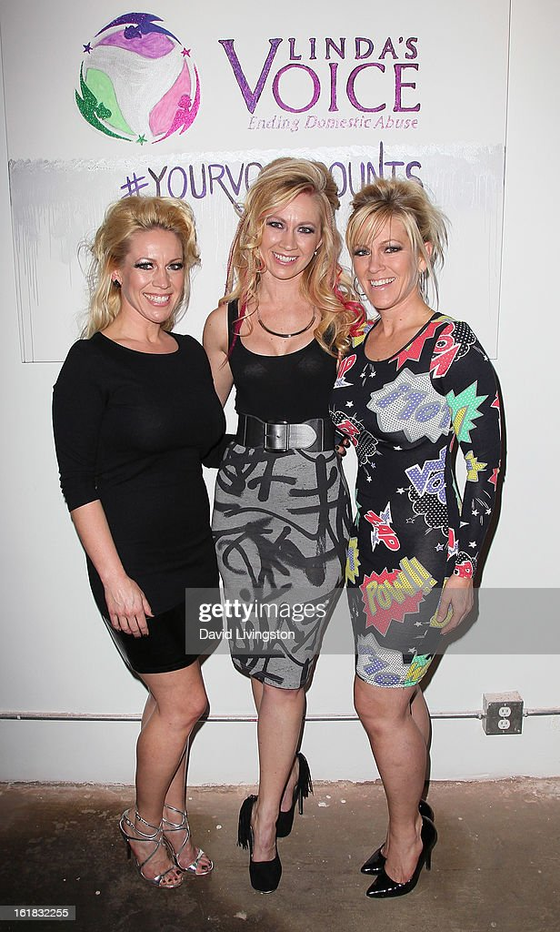 Linda's Voice founders/sisters Amanda Whitis, Summer Harlow and Kelley Whitis attend Linda's Voice joining with 'The Vagina Monologues' One Billion Rising Campaign at Voice's Unsilenced Live Art Auction at LAB ART on February 16, 2013 in Los Angeles, California.