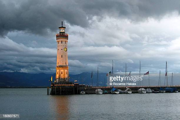 Lindau lighthouse and harbor
