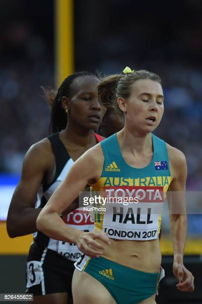 Linden HALL Australia during 1500 meter preliminary round at London Stadium in London on August 4 2017 at the 2017 IAAF World Championships athletics