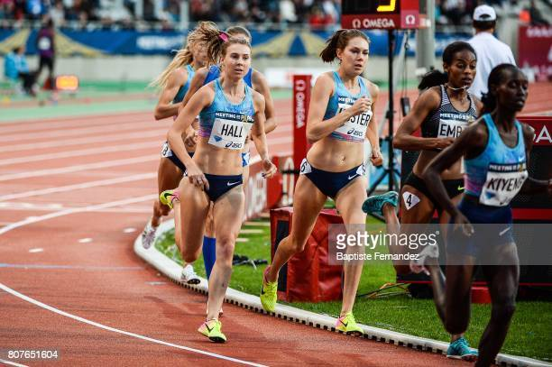 Linden Hall Maureen Koster and Axumawit Embaye during the Meeting de Paris of the IAAF Diamond League 2017 at Stade Charlety on July 1 2017 in Paris...