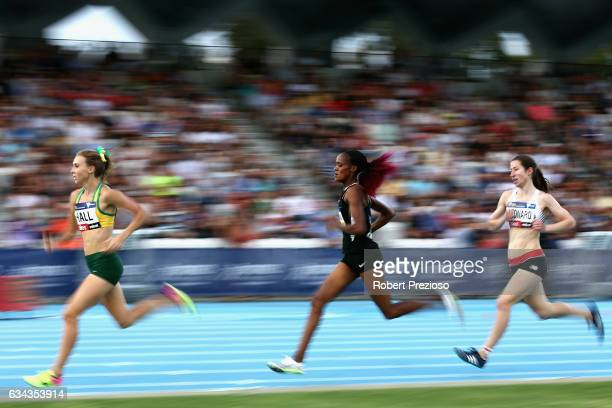 Linden Hall of Australia competes in mixed 2x1 mile relay 3 min during the 2017 Nitro Athletics Series at Lakeside Stadium on February 9 2017 in...